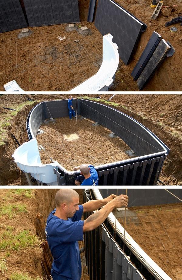 Строительство каркасного, бетонного, сборног, композитного бассейна