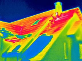 Теплоизоляция дома (обследование тепловизором)